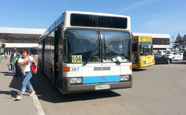 костанай автобус  № 104