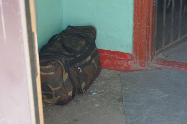 Подозрительная сумка у подъезда